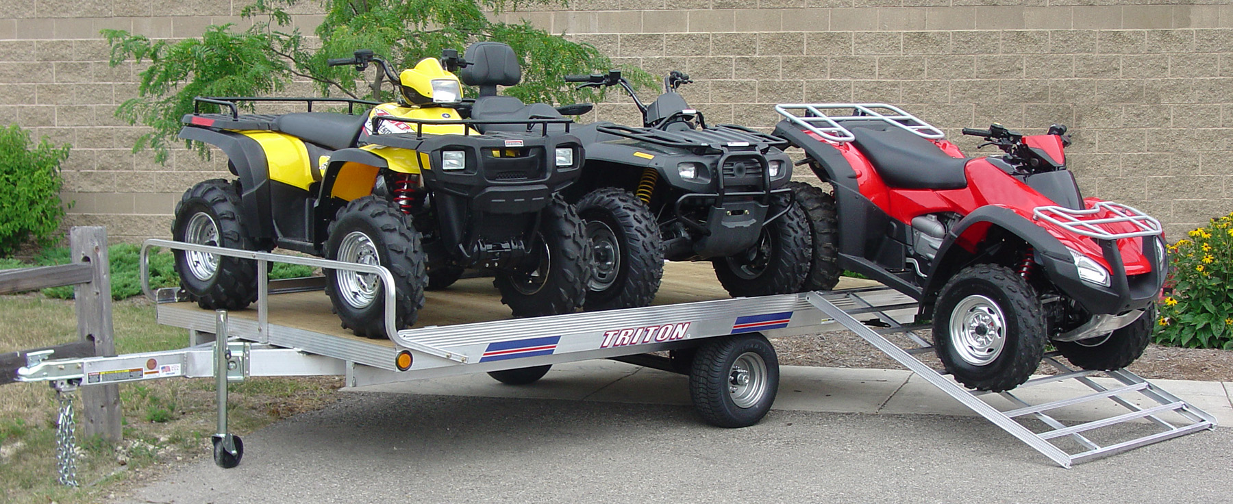 Aluminum Motorcycle Ramp Models ATV88 and ATV128 are Triton's most popular ATV trailers ...