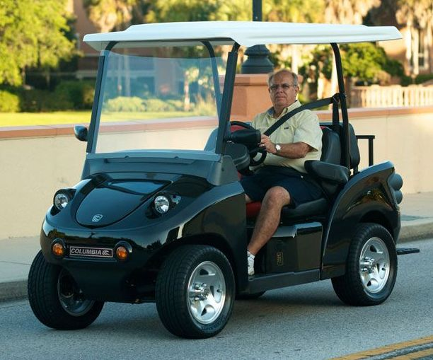 Columbia Eagle LSV Electric Cart Black Side View