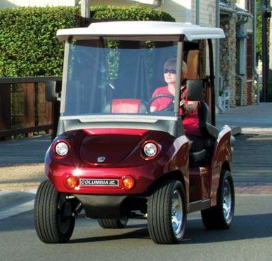 Columbia Eagle LSV Electric Cart Red Front View