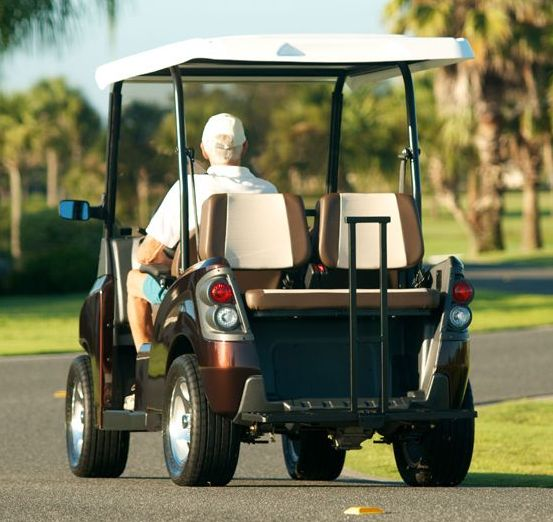 Columbia Eagle LSV Electric Cart Root Beer 4 Seater Rear View
