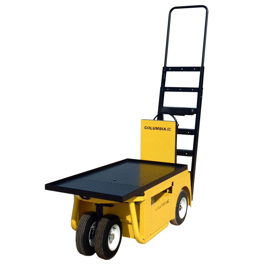 Columbia Stock Chaser electric burden carrier with extended front deck and ladder