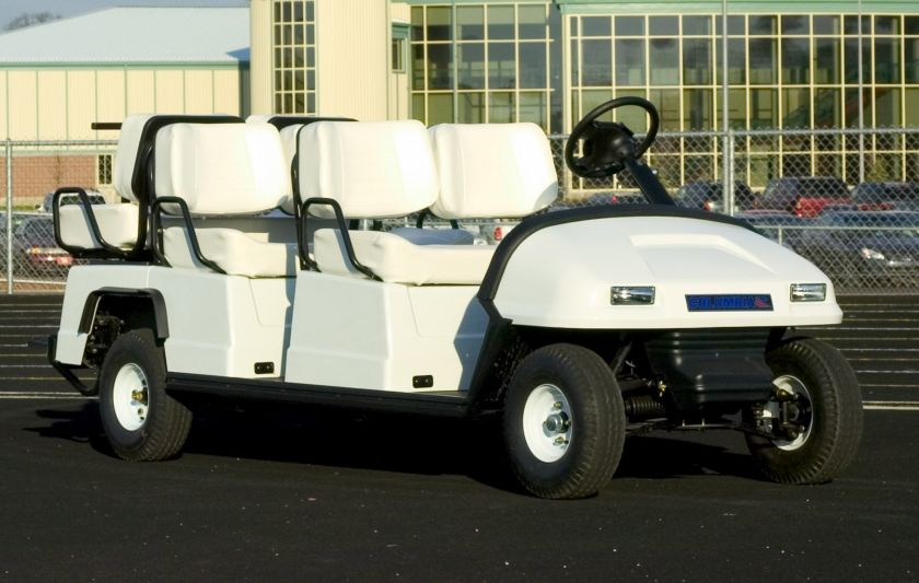 Columbia Shuttle 6-passenger Electric Cart at Running Track