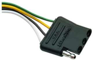 7-round to 4-flat Trailer Wiring Adapter - Johnson Manufacturing
