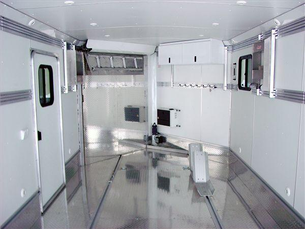 5-3/4 inch wide Wheel chock mounted in Triton enclosed trailer