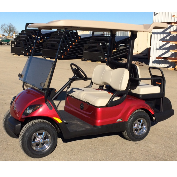 2018 Yamaha Electric Golf cart 4 Seater AC drive golf cart Jasper red color drivers side view