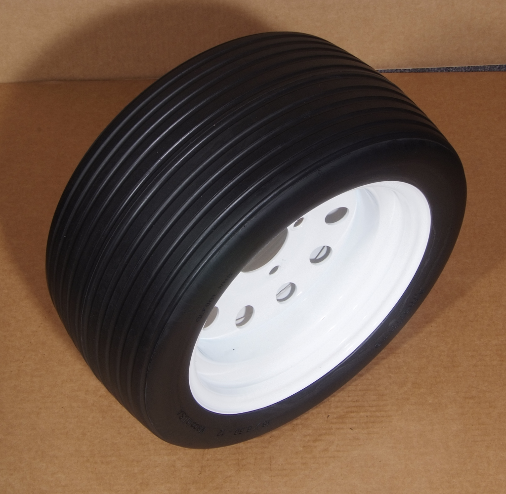Flat Free Golf Cart Tire Ribbed Tread Pattern