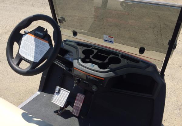 2018 Yamaha electric AC golf cart dash
