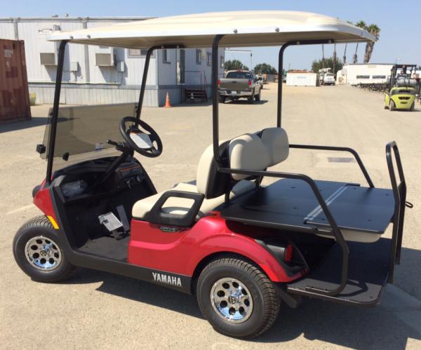 2018 Yamaha Electric golf cart rear facing seat faced down