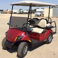 2018 Yamaha Electric Golf Cart 4 Seats Red