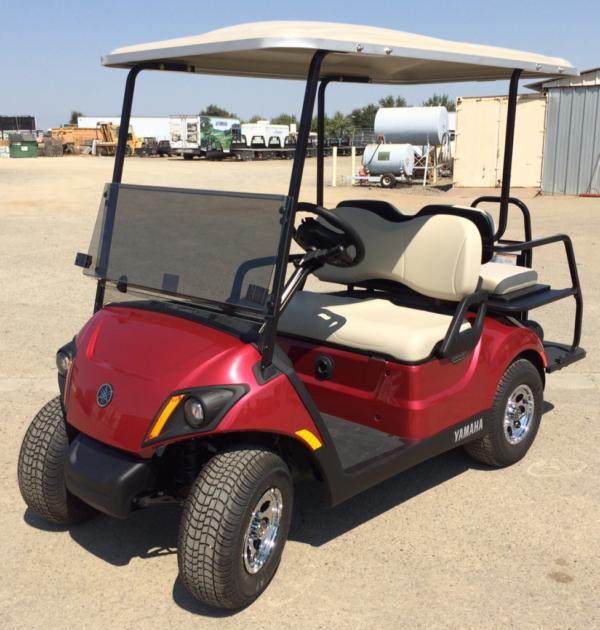 2018 Yamaha Electric Golf Cart 4 Seats Red