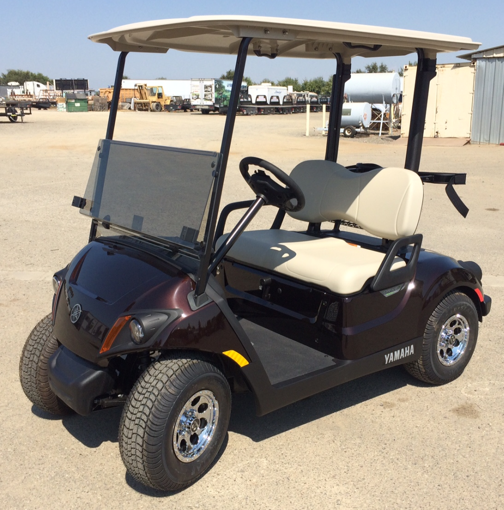 2018 Yamaha Gas Golf Cart Metallic Brown Johnson Manufacturing