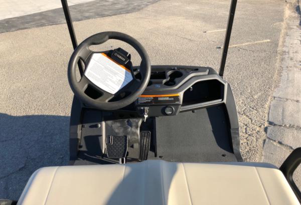2019 Yamaha EFI Gas golf cart for sale view of dash