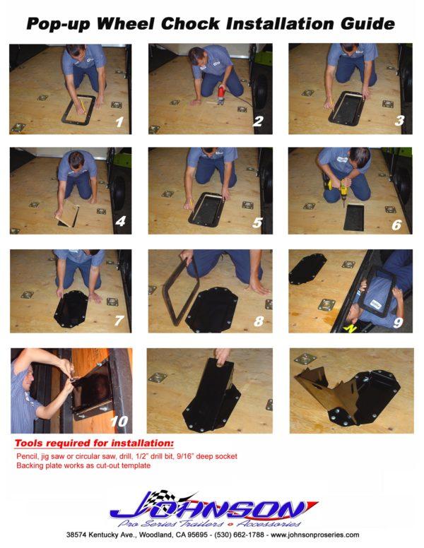 Johnson Pop-Up Wheel Chock installation instructions