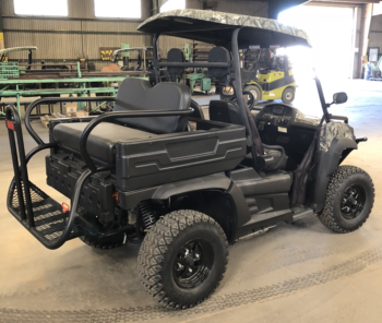 Columbia Vanish 4WD Electric UTV rear pass side view of RFS in shop