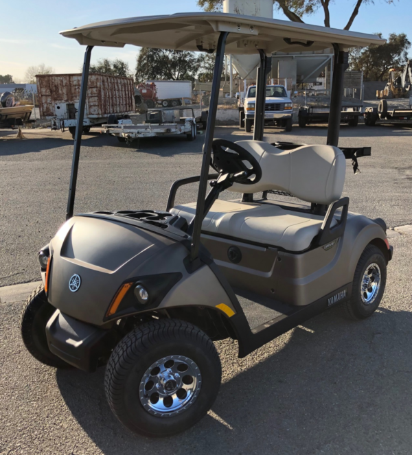 2020 Yamaha Drive2 electric golf cart in Mica Matte color driver side front view