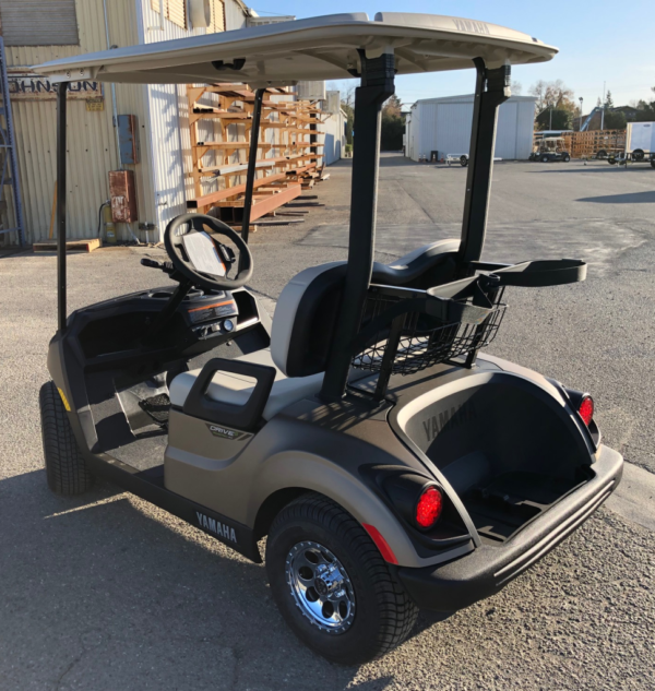 2020 Yamaha Drive2 electric golf cart in Mica Matte color driver side rear view