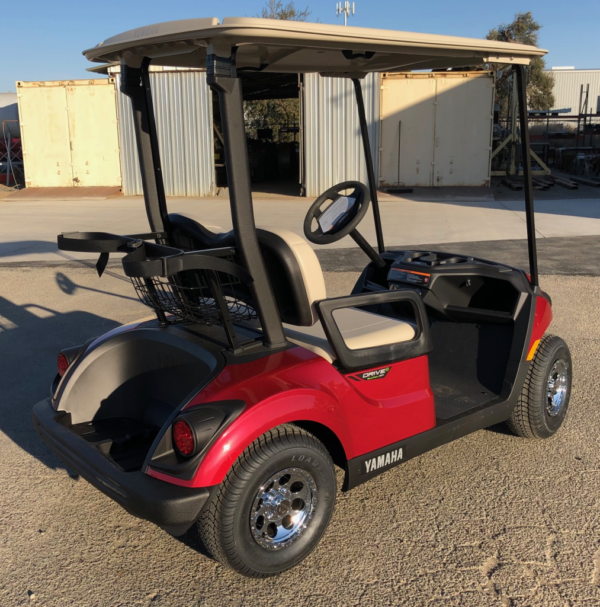 2020 Yamaha EFI Gas Golf Cart for sale passenger side rear view
