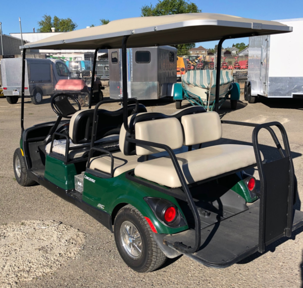 2015 Yamaha 6-seater concierge cart AC electric refurbished driver side front view