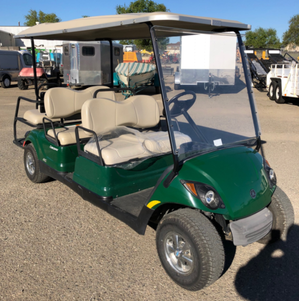 2015 Yamaha 6-seater concierge cart AC electric refurbished pass side front view