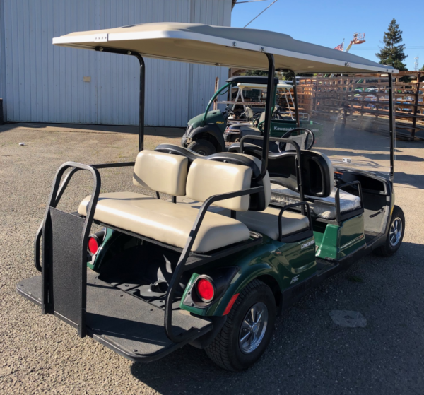 2015 Yamaha 6-seater concierge cart AC electric refurbished pass side rear view